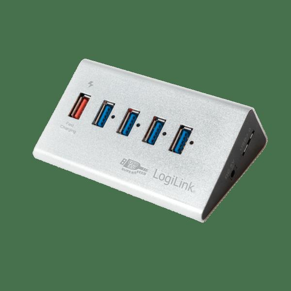 LogiLink 5 Port USB 3.0 Hub Zilver