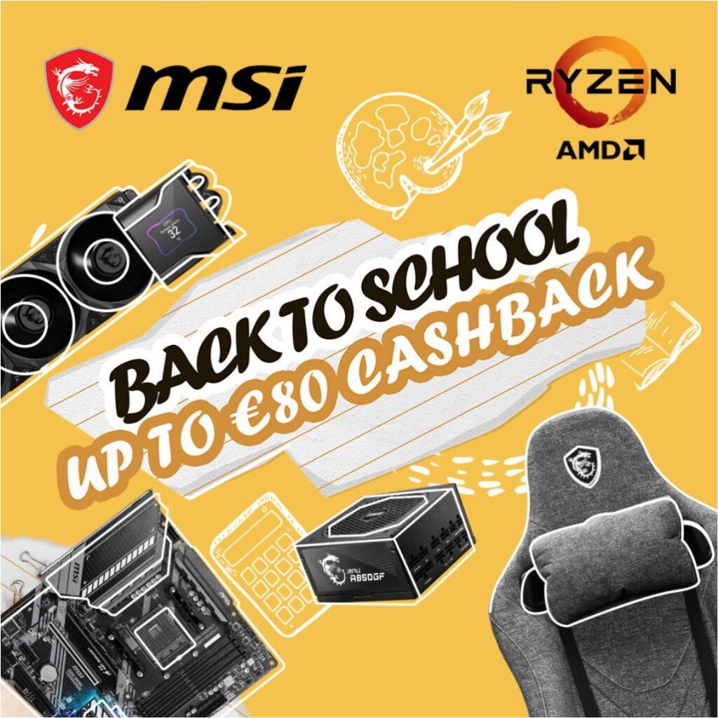 MSI Back to School Cashback 2021